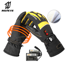 Motorcycle Gloves Winter Waterproof Battery Powered Moto Electric Heated Gloves Motorbike Racing Riding Keep Warm Heating Glove savior motorcycle heating gloves riding racing biking winter sports electric rechargeable battery heated warm gloves cycling