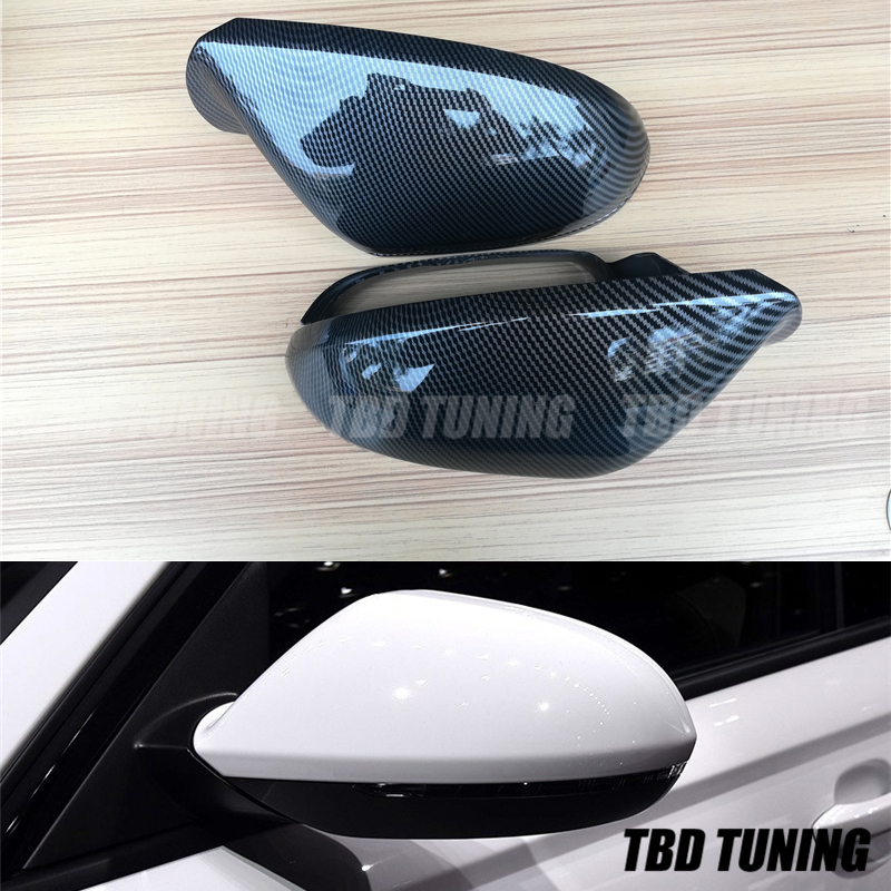 For <font><b>Audi</b></font> <font><b>A6</b></font> S6 RS6 C7 Carbon Fiber Look Rear View Mirror Cover 2012 - <font><b>2019</b></font> <font><b>A6</b></font> C7 S6 RS6 Carbon fiber Look Mirror Cover image