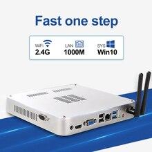 Fanless Mini Pc Windows 10 Intel Core i7 2630QM I5 3320M DDR3L RAM 128GB 256GB mSATA SSD HDMI VGA WiFi Gigabit Ethernet