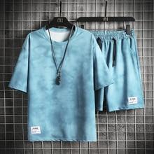 Summer New Mens Casual Set Fashion 2 PCS Sportswear Suit Short Sleeve T-shirt Shorts Sets Male Sportswear Tracksuit Men