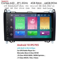 Android 9,0 DSP IPS Octa 8 Core 4GB RAM 64GB ROM coche navegación GPS unidad para Mercedes benz B200 A clase B W169 W245 Viano Buto W639 Sprinter W906 BT Radio coche reproductor Multimedia unidad principal Auto USB de