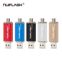 Nuiflash Usb 2.0 TYPEC USB flash drive for SmartPhone/Tablet/PC 8GB 16GB 32GB 64GB 128GB Pendrive High speed pen drive package(China)