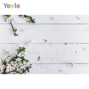Image 2 - Yeele חג המולד עץ לוח פרח קיר תינוק צילום רקע ויניל צילום רקע תמונה סטודיו Photozone עבור מזון