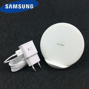 Оригинальное Беспроводное зарядное устройство Samsung Qi Быстрая Зарядка адаптер EP-N5100 для Galaxy S10 S9 S8 Plus Note 10 + 9 8 iPhone 8 X XR XS