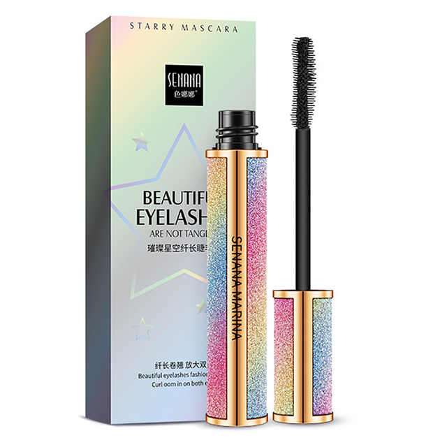 SENANA 4D Silk Fiber Lashes Thick Lengthening Mascara Long Black Lash Eyelash Extension Eye Lashes Brush Makeup Eye Cosmetics 5