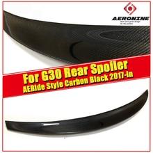 For BMW G30 Sedan Trunk spoiler wing Ride style Carbon fiber 5 series 520i 525i 530i 540i 550i Rear Diffuser wing spoiler 2017+ цены онлайн