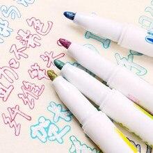 Stylo marqueur à Double ligne, 8/12 couleurs, stylo de dessin de Contour créatif, surligneur coloré, mignon, Fluorescent, fournitures scolaires et de bureau