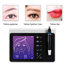 Профессиональная роторная машинка для татуажа, ручка для перманентного макияжа, бровей, губ, микроблейдинга, сделай сам, комплект с иглой для татуажа