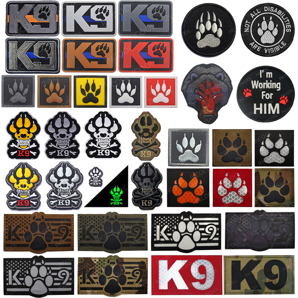 K9 Dog Patch Embroidered Animal Tactical Morale Army Swat Military Morale Badge