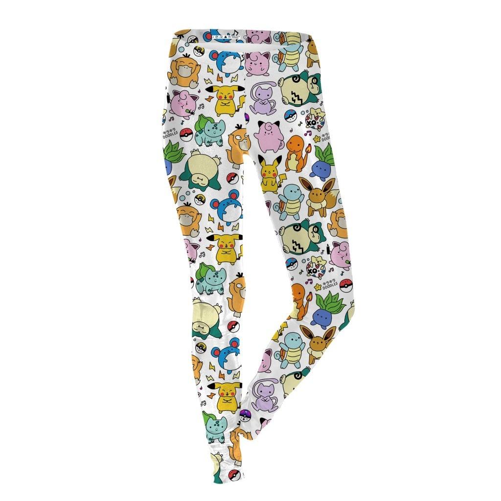 Elf Treasure Can Dream Printed Women's Leggings European And American-Style Hot Selling Slim Fit Slimming Skinny Pants Kdk1621