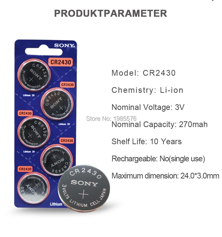 ecr2430 cr2430 botão de relógio cocells bateria