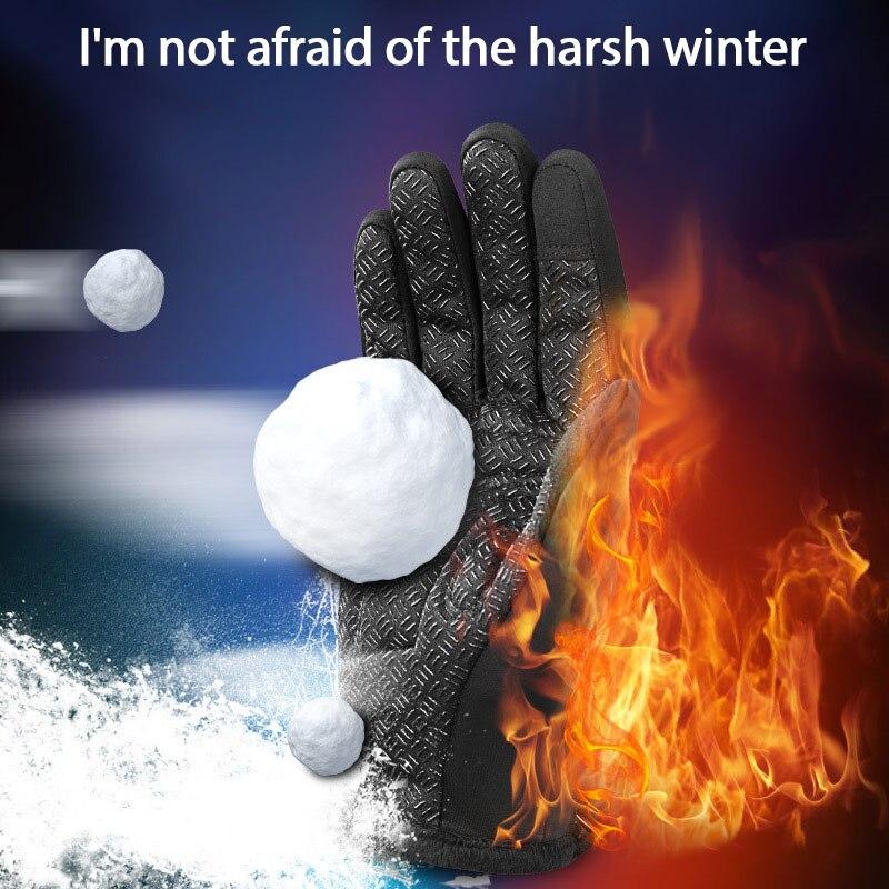Зимние перчатки для езды на лыжах и велосипеде велосипедные