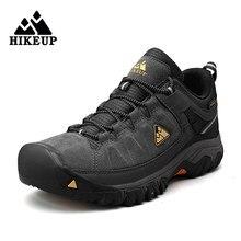 HIKEUP-zapatos de senderismo de alta calidad para hombre, calzado deportivo de cuero para escalada y caminar al aire libre, para montaña y trotar, otoño