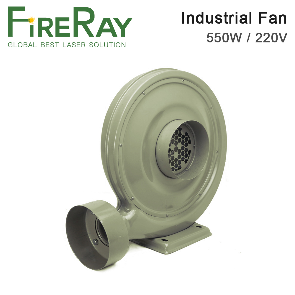 Fireray 220V 550W Exhaust Fan Air Blower Centrifugal for CO2 Laser Engraving Cutting Machine Medium Pressure Lower Noise
