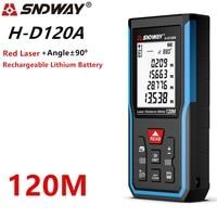 Telémetro láser Sndway medidor de distancia 120m 100m 70m50m Digital electrónico ruleta Trena cinta métrica láser regla telémetro