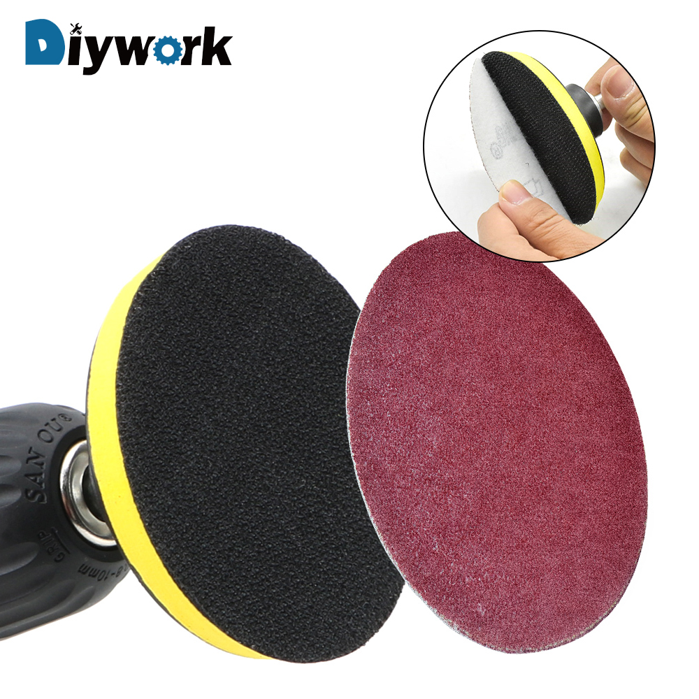 DIYWORK Sandpaper <font><b>Disc</b></font> Holder 8mm Shank Self-adhesive Sanding <font><b>Disc</b></font> Pad 3