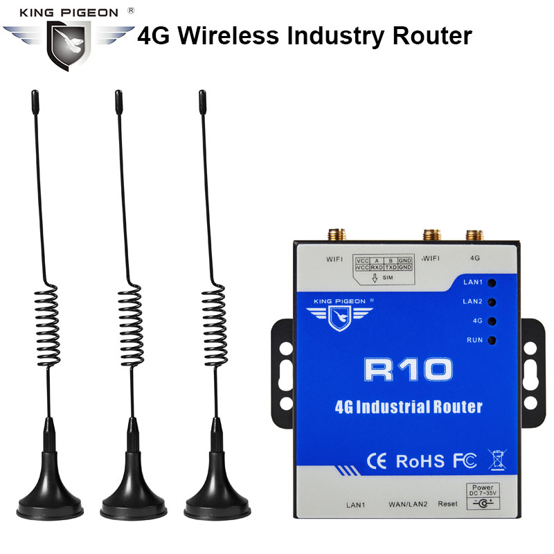 Wireless Industrial Router 300Mbps Strong Wifi Signal Suport Transparent Transmission VPN For IP Camera 4G LTE Router
