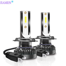 JIAMEN H4 H7 LED H1 H3 H8 H11 HB3 9005 HB4 9006 H27 880 881 Bulbs Mini Car Headlight Lamp 12000LM 100W Auto Headlamp 12V 24V