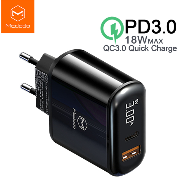 Mcdodo 18W USB Charger Quick Charge 4.0 PD Fast Charging Phone Charger for iPhone 11 Max Pro X XR XS Xiaomi Samsung S10 9 Huawei