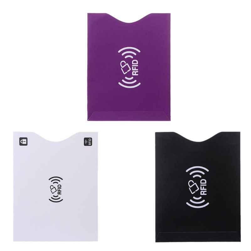 RFID Блокировка кредитной карты Обложка для паспорта протектор экранированный рукав карты Чехол X3UA