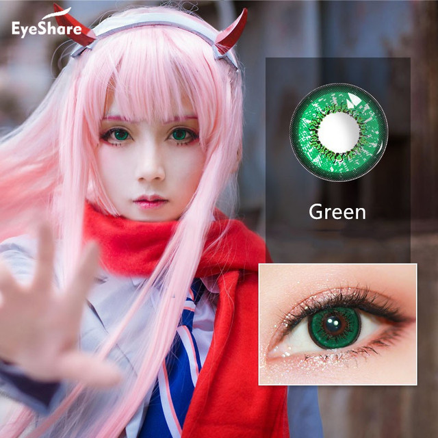 EYESHARE 1 Pair (2pcs)  Beila Color Cosplay Contact Lens for Eyes Halloween Cosmetic Contact Lenses  Eye Color 3