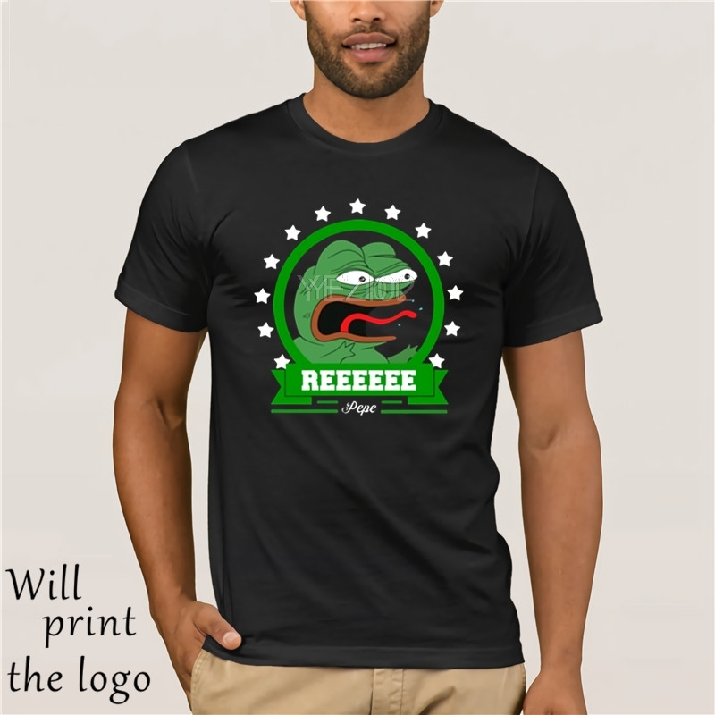 Men T shirt Unique Fashion Style Reeeeee Angry Pepe <font><b>Frog</b></font> funny t-shirt novelty <font><b>tshirt</b></font> image