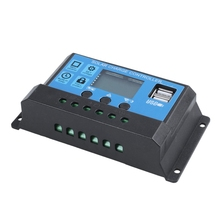 30A 12V / 24V LCD Intelligence Auto Regulate PWM Solar Battery Charge Controller 10pcs lots solar charge controller 30a mppt pwm voltage settable lcd dispaly light and dual timer control 30a 12v 24v auto work