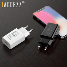 !ACCEZZ Universal Mobile Phone USB Charger EU Plug For iPhone 7 8 X Samsung Xiaomi Huawei Travel Wall Phone Charge Power Adapter 5v 4a mobile phone charger eu travel wall power adapter for samsung galaxy xiaomi redmi iphone 7 8 8 plus charging cable plug