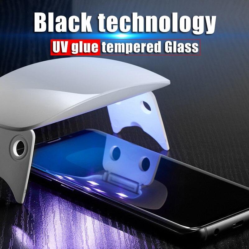 UV Liquid Glue Tempered Glass For Samsung Note 10 Pro Note 8 9 Galaxy S20 Ultra S20 Plus S10 S9 S8 S10E S7 Edge Clear Glass Film
