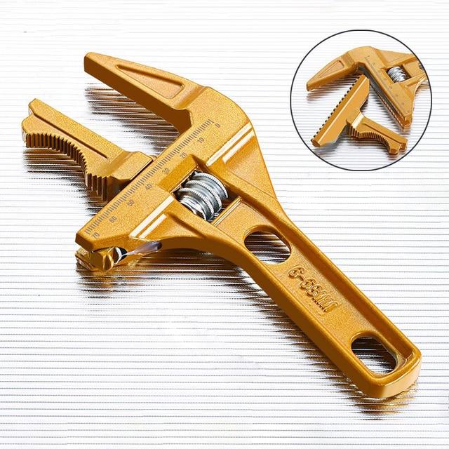 AI-ROAD Bathroom Water Pipe Wrench Adjustable Spanner Multi-Function Repair Tool Universal large Open Short Handle Plumbing Tool 3