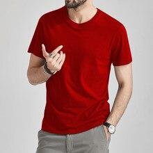 T-shirt de verão dos homens do sexo masculino t camisas de algodão legal curto t camisa feminina simples sólido t superior feminino vermelho t men o-neck plus size 5xl