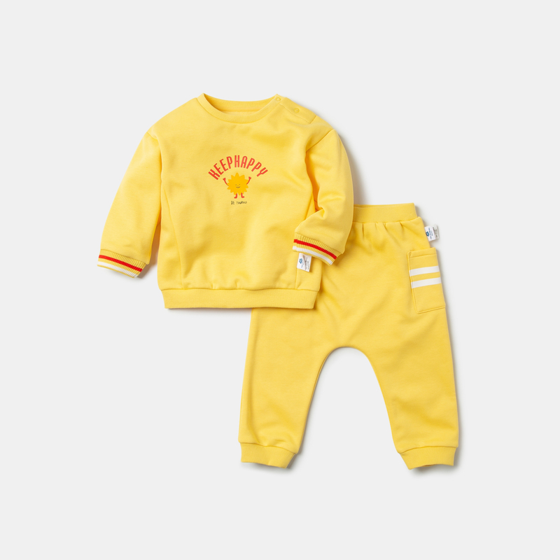 Mini Bababala Baby suit baby boy 2020 spring new style plus velvet sports and leisure two-piece childrenclothing