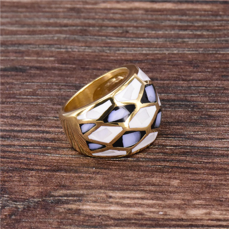 New shell design shell finger ring fashion jewelry titanium steel rings fashion jewelry gold color casting ring for women in Rings from Jewelry Accessories