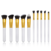 10pcs Makeup Brushes Professional Cosmetic Complete Eyeliner Eyeshadow Brow Makeup Brushes Set For Foundation Powder Blush недорого