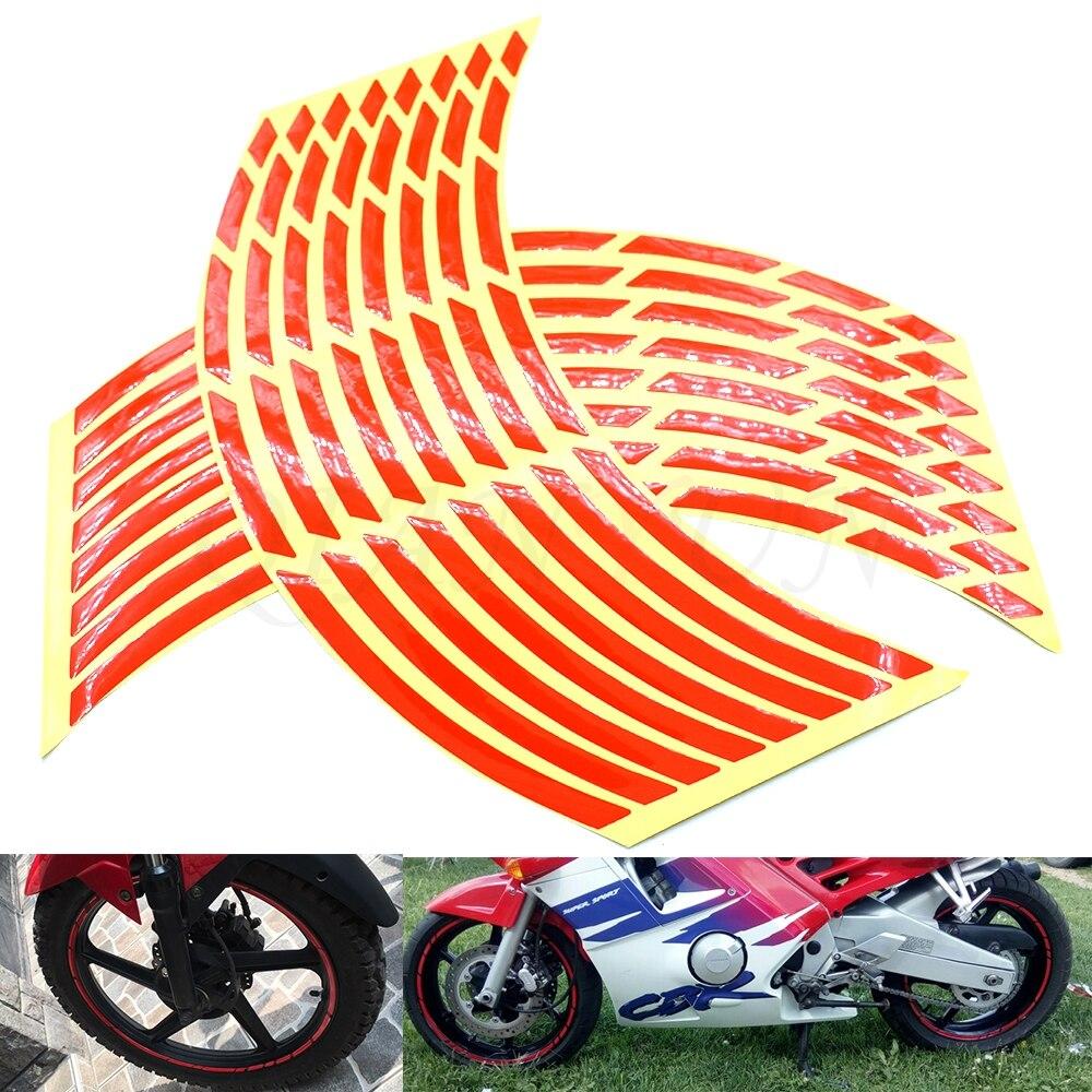 Universal Car Motorcycle Tire Sticker Reflective Strip Tape Decal FOR Honda CB400 CB500F CB500X CB599 CB600 CB600F CB650F CB1000