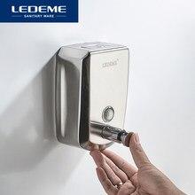 LEDEME dozownik do mydła ze stali nierdzewnej przysznic do montażu na ścianie dozownik szamponu do kąpieli mydło w płynie pojemnik akcesoria łazienkowe L404