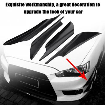 Car Bumper Fins Canards Splitter Air Knife for BMW E34 F10 F20 E92 E38 E91 E53 E70 X5 M M3 E46 E39 E38 E90 M140i 530i 128i image