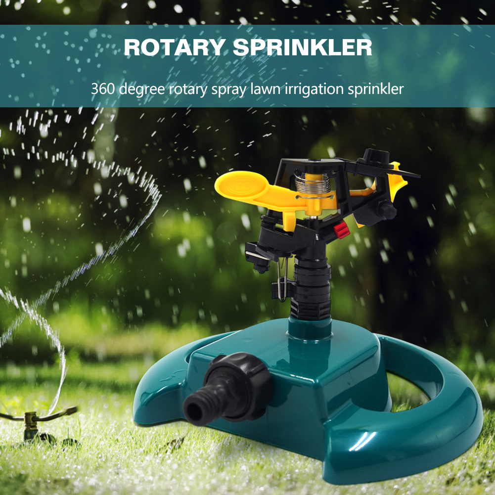 Garden Irrigation Sprinkler 360 Rotating Lawn Grass Automatic Easily Carrying Eco-friendly Tool Watering Sprinkler