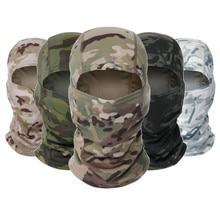 Camuflagem tático balaclava máscara facial completa cs wargame exército caça ciclismo esportes capacete forro boné militar multicam cp cachecol