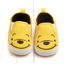 New Cartoon Pattern Toddlers First Walkers Baby Canvas Shoes