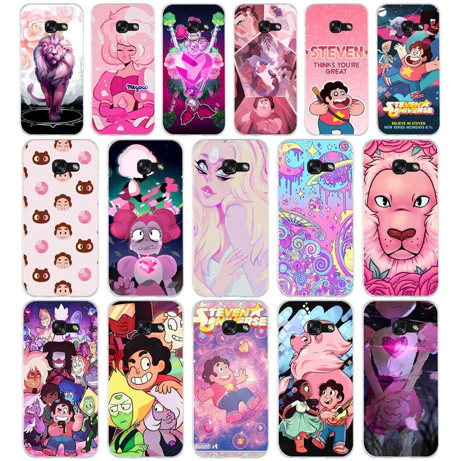 060FG Cartoon Steven Universe Weiche Silikon Tpu Abdeckung telefon Fall für Samsung a3 2016 a5 2017 a6 plus a7 a8 2018 s6 7 8 9