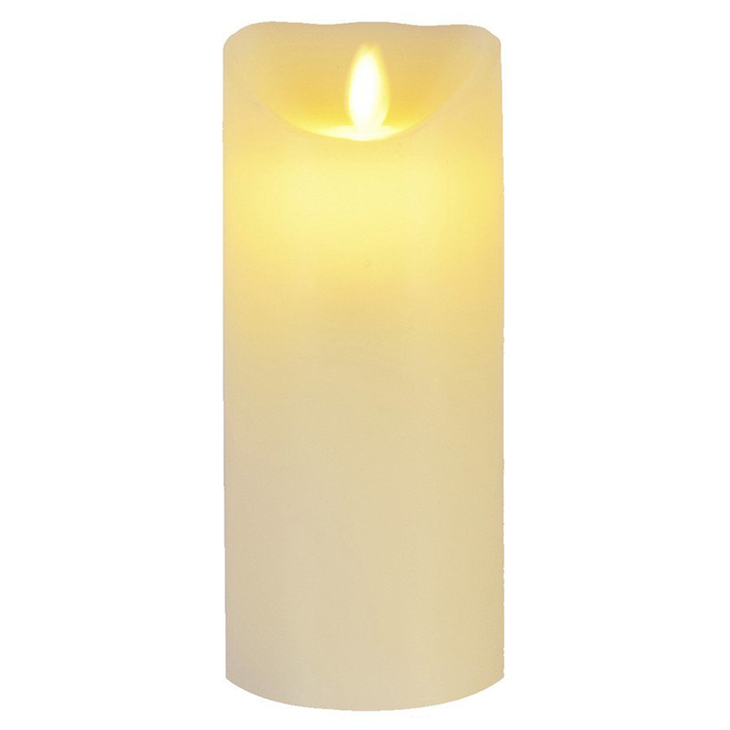 Christmas Light Flameless Candles Remote Included 7 Inch Flameless Candles With Timer Of 2,4,6,8 Hours Battery Operated LED Cand