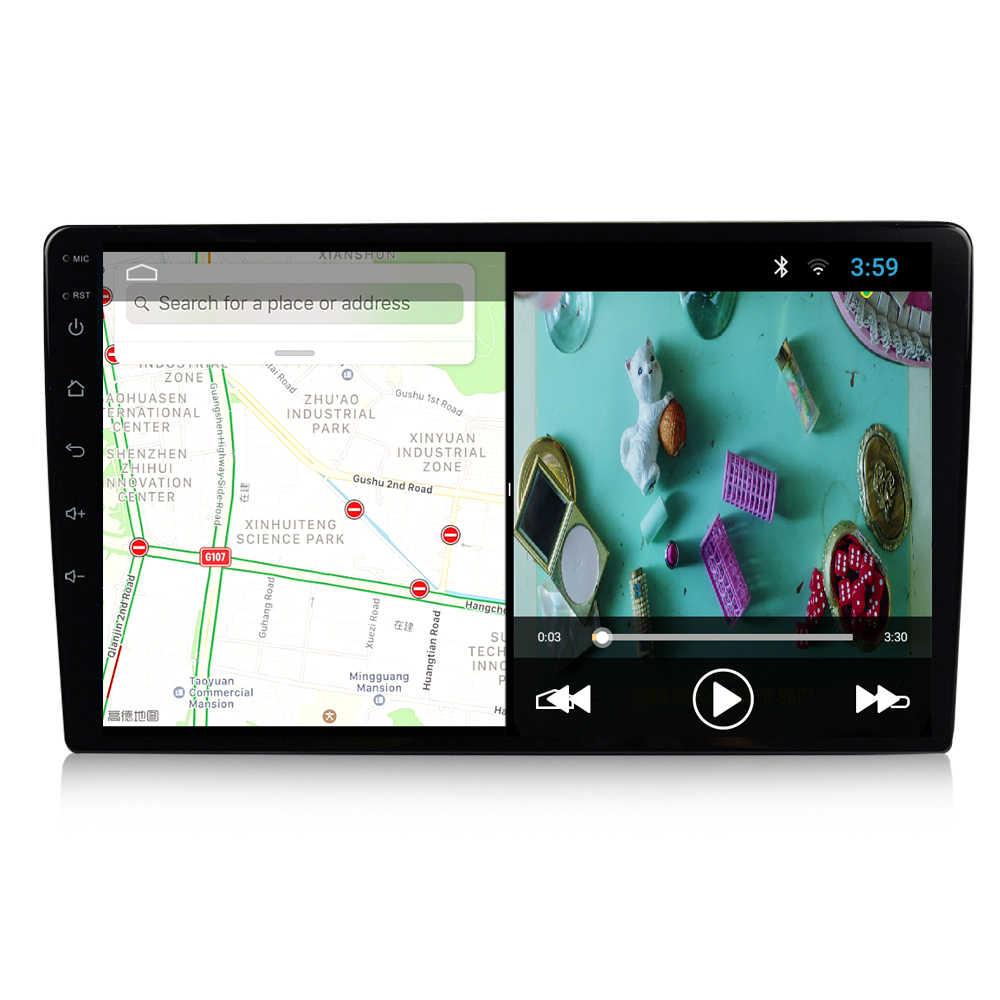 EKIY 9 ''/10.1'' 2.5D أندرويد 9.0 العالمي 2 الدين نظام تحديد المواقع نافي راديو السيارة مشغل وسائط متعددة واي فاي السيارات ستيريو الصوت والفيديو MP5 لاعب