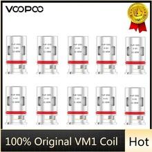 Oryginalne VOOPOO PnP VM1 cewki 0 3ohm siatki cewki fit VOOPOO ARGUS GT Drag X Mod Pod rdzeń zamienny głowice E cewki papierosów tanie tanio CN (pochodzenie) VOOPOO PnP VM1 Mesh Coil Voopoo ARGUS GT Vape DS Dual 5pcs pack Atomizer Coil Voopoo ARGUS GT Vape Kit
