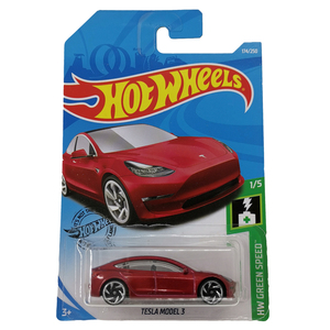 Image 3 - Hot Wheels 1:64 Car TESLA MODEL 3  S  X  Collector Edition Metal Diecast Model Cars Kids Toys Gift