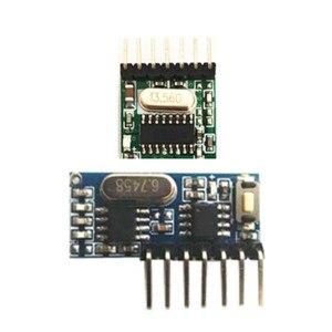 Image 2 - 433MHz drahtlose empfänger und fernbedienung transmitter learning code 1527 decodierung modul 4 kanal ausgang mit lernen taste