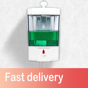 Soap Dispenser Battery Powered 700ml Wall-Mount Automatic IR Sensor Touch-free Kitchen Soap Lotion Pump for Kitchen Bathroom(China)