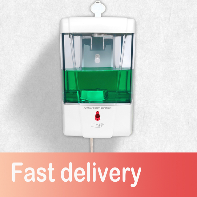 Soap Dispenser Battery Powered 700ml Wall Mount Automatic IR Sensor Touch free Kitchen Soap Lotion Pump for Kitchen Bathroom