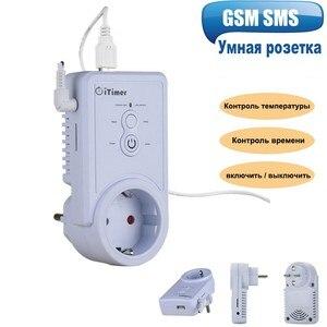 Image 2 - EU Plug GSMสมาร์ทซ็อกเก็ตภาษาอังกฤษรัสเซียSMSรีโมทคอนโทรลสวิทช์อุณหภูมิคอนโทรลเลอร์Sensor Outletปลั๊ก