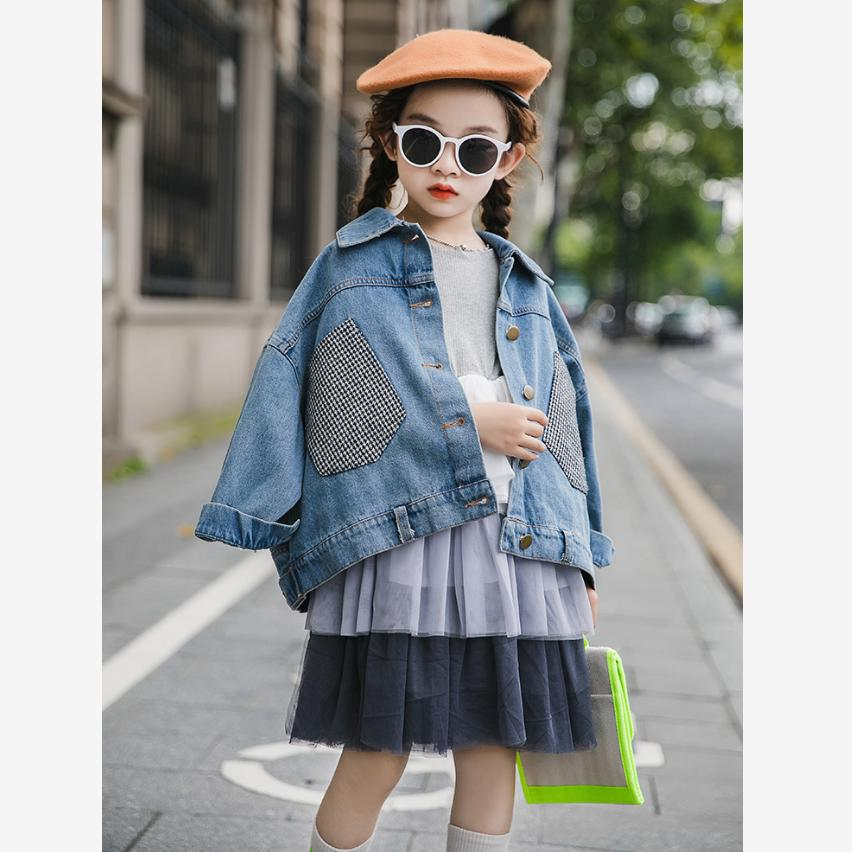 <font><b>Children's</b></font> <font><b>BF</b></font> Denim Jacket Fashion Harajuku Big Pocket Designs Loose Jean Coat Jacket Modis Kids Clothes Outerwear Y1862 image